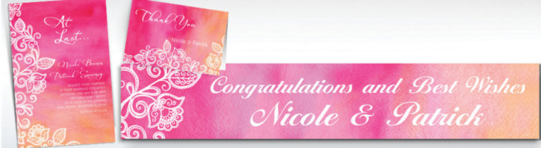 Custom Ombre Floral Warm Invitations & Thank You Notes