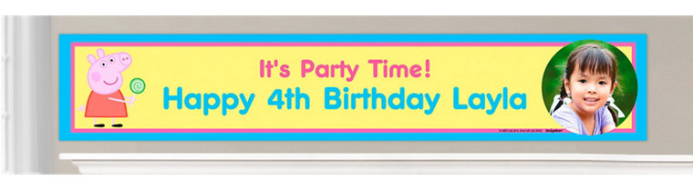 Custom Peppa Pig Birthday Banners