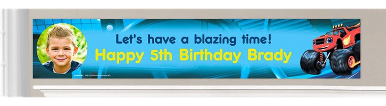 Custom Blaze and the Monster Machines Birthday Banners