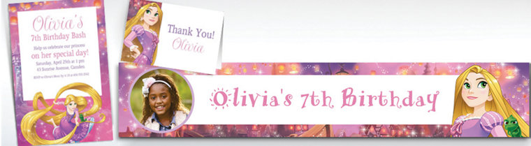 Custom Rapunzel Invitations, Thank You Notes & Banners