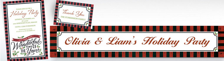 Custom Most Wonderful Time Invitations, Thank You Notes & Banners
