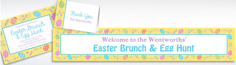 Custom Egg-cellent Easter Invitations, Thank You Notes & Banners