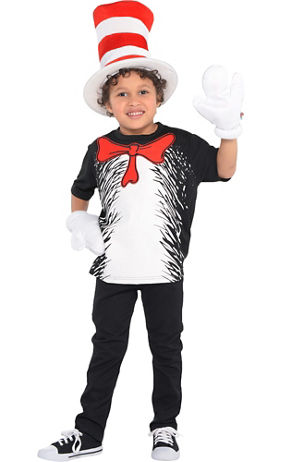 Toddler Boys Dr. Seuss Cat in the Hat Costume - Party City