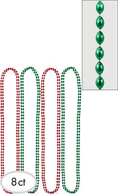 Christmas Bead Necklaces 8ct