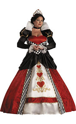 Adult Queen of Hearts Costume Plus Size Elite