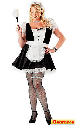 Adult Fiona The French Maid Costume Plus Size