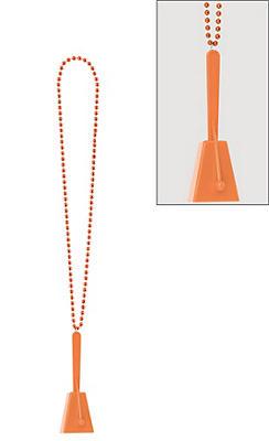 Orange Clacker Necklace