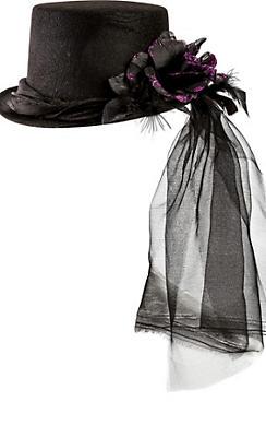 Purple Rose Top Hat