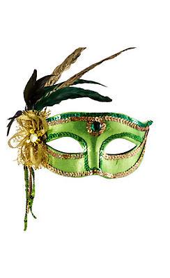 Woodland Fairy Feather Masquerade Mask