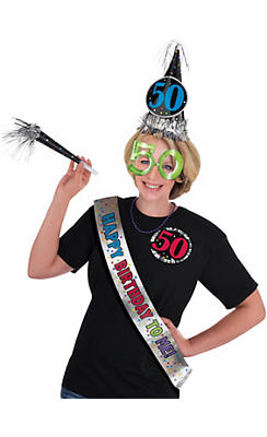 50th Birthday Accessory Kit 6pc