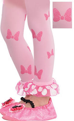 Child Minnie Mouse Footless Tights