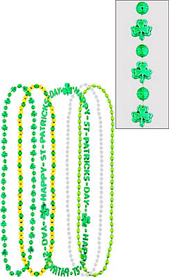 St. Patrick's Day Bead Necklaces 5ct