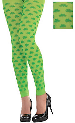 Shamrock Footless Tights