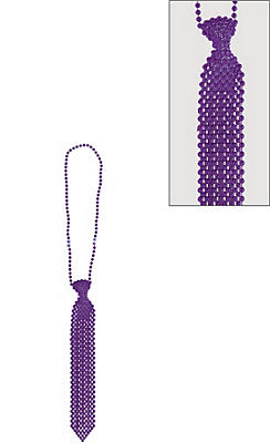 Purple Tie Bead Necklace