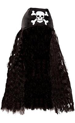 Pirate Bandana with Hair