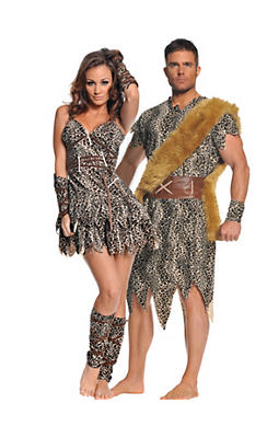 Caveman and Cavewoman Couples Costume