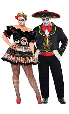 Plus Size Day of the Dead Couples Costumes