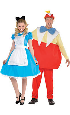 Adult Alice & Tweedledum Couples Costumes - Alice in Wonderland