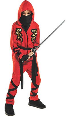 Boys Fire Dragon Ninja Costume