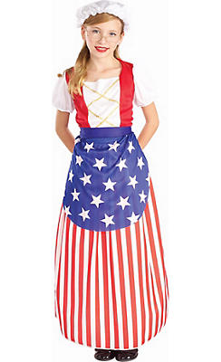 Girls Betsy Ross Costume