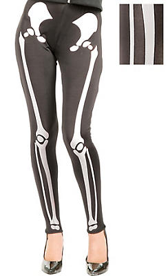 Adult White Skeleton Leggings