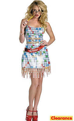 Adult Sassy Scrabble Costume Deluxe