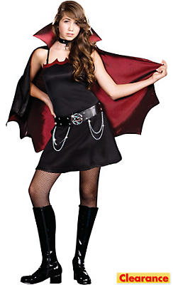 Teen Girls Twilight Bite Vampire Costume