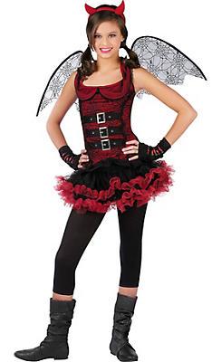 Girls Night Wing Devil Costume