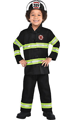 Toddler Boys Reflective Firefighter Costume