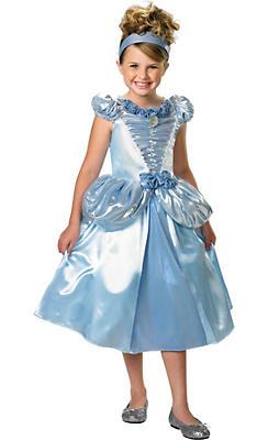 Girls Shimmer Cinderella Costume