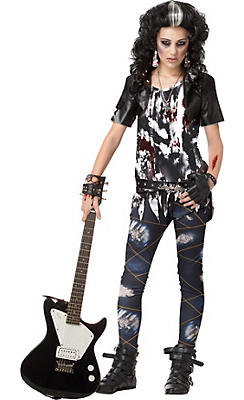 Teen Girls Rocked Out Zombie Costume