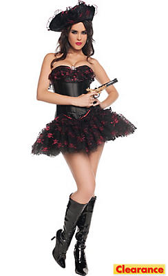 Adult Sultry 7 Seas Pirate Costume