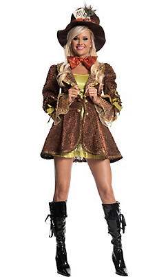 Adult Sexy Mad Hatter Costume Deluxe