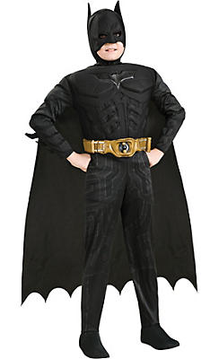 Boys Batman Muscle Deluxe Costume - The Dark Knight