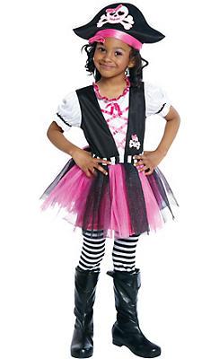 Toddler Girls Dazzling Pirate Costume