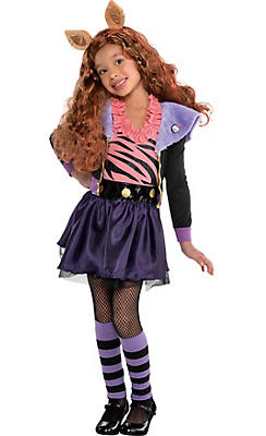 Little Girls Clawdeen Wolf Costume Deluxe - Monster High