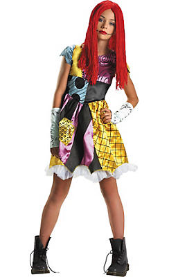 Girls Sally Costume - Nightmare Before Christmas