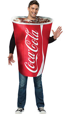 Adult Coca-Cola Cup Costume
