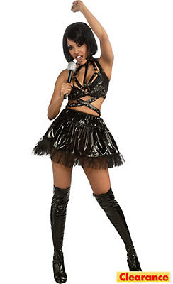 Adult Black Vinyl Rihanna Costume