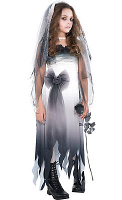Girls Graveyard Bride Costume