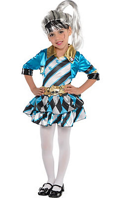 Little Girls Monster High Frankie Stein Costume