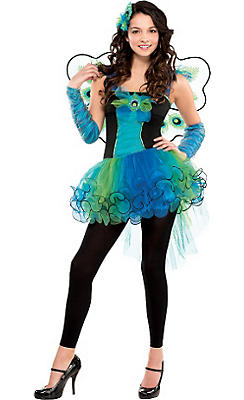 Teen Girls Diva Peacock Costume