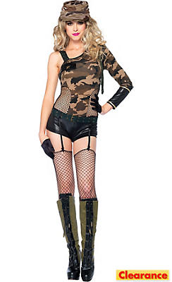 Adult Camo Doll Army Costume