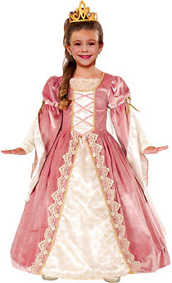 Girls Victorian Rose Princess Costume Deluxe