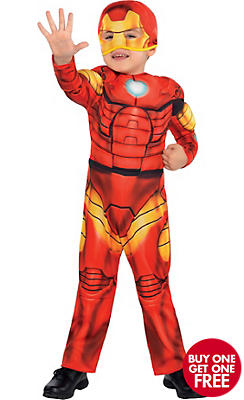 Toddler Boys Iron Man Muscle Costume Classic