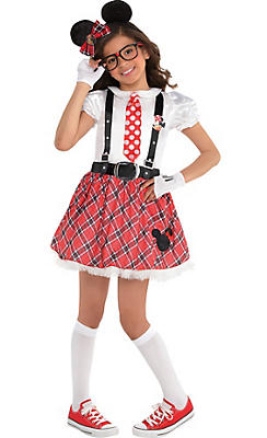 Girls Minnie Mouse Nerd Costume