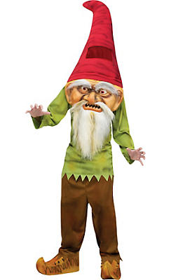 Child Big Head Evil Gnome Costume