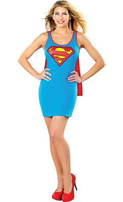 Adult Supergirl Tank Dress - Superman