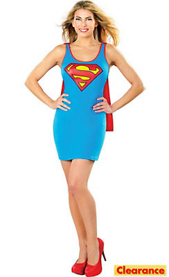Adult Supergirl Tank Dress - Superman