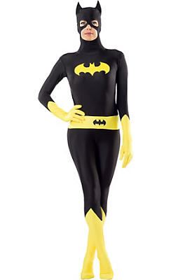 Adult Second Skin Batgirl Costume - Batman